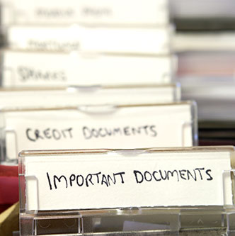 Retaining & Storing Important Financial Documents